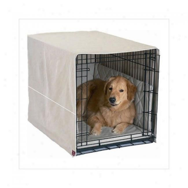 Pet Dreams Classic Cratewear Dog Crate Cover Medium Khaki 30