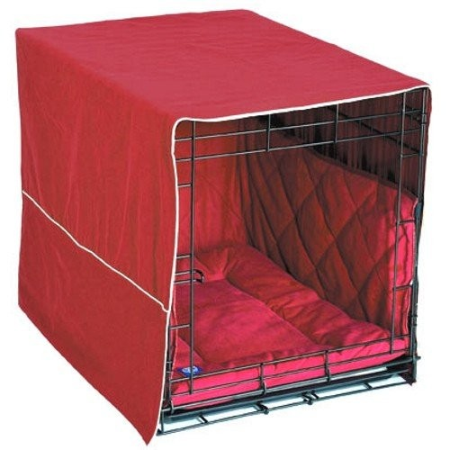 Pet Dreams Classic Cratewear Dog Crate Cover Medium Burgundy 30