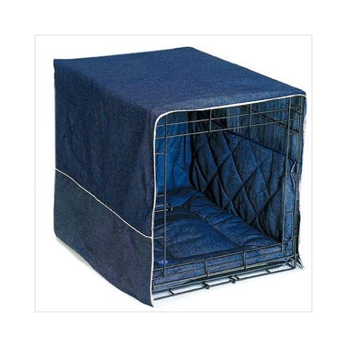 Pet Dreams Classic Cratewear Dog Crate Cover Medium Denim 30
