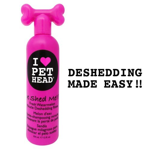 Pet Head De Shed Me Miracle Deshedding Rinse Watermelon 12oz 9