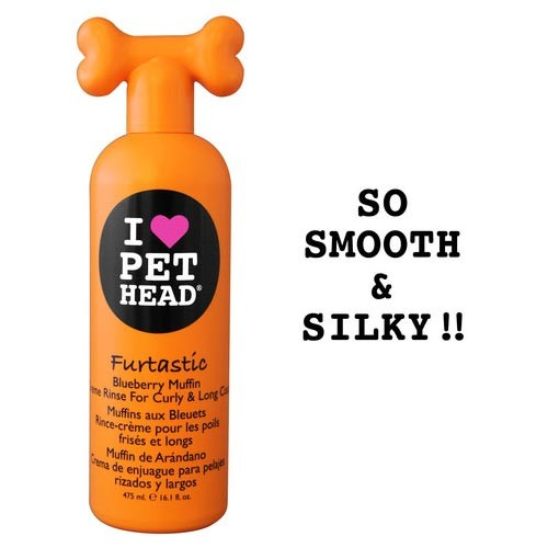 Pet Head Furtastic Crème Rinse for Curly and Long Coat Blueberry Muffin 16oz 9
