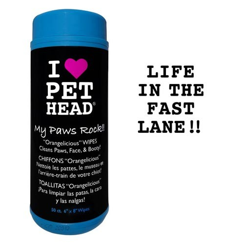 Pet Head My Paws Rock Grooming Wipes Orangelicious 50 count 8