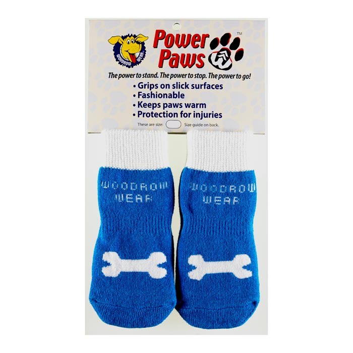 Woodrow Wear Power Paws Advanced Extra Extra Extra Large Blue / White Bone 3.5
