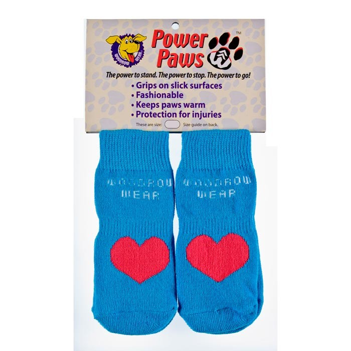 Woodrow Wear Power Paws Advanced Extra Extra Extra Large Blue / Red Heart 3.5