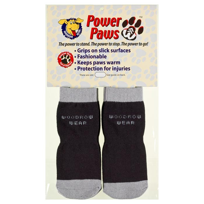 Woodrow Wear Power Paws Advanced Extra Extra Extra Large Black / Grey 3.5