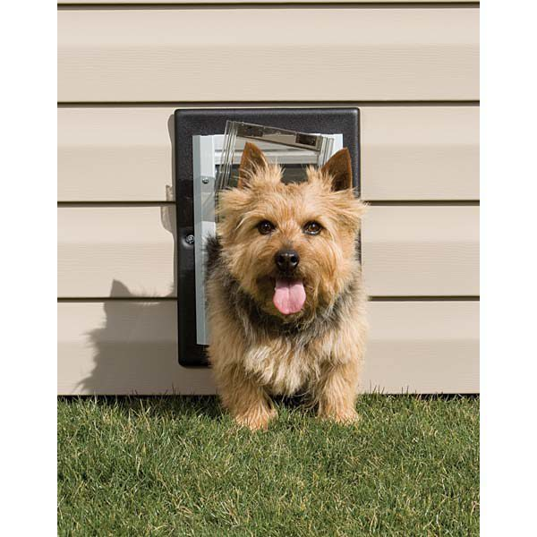 PetSafe Wall Entry Aluminum Pet Door Small Taupe / White 9.25