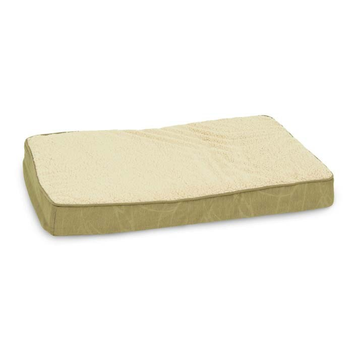 Petmate Deluxe Ortho Foam Dog Bed Small Brown or Green 20