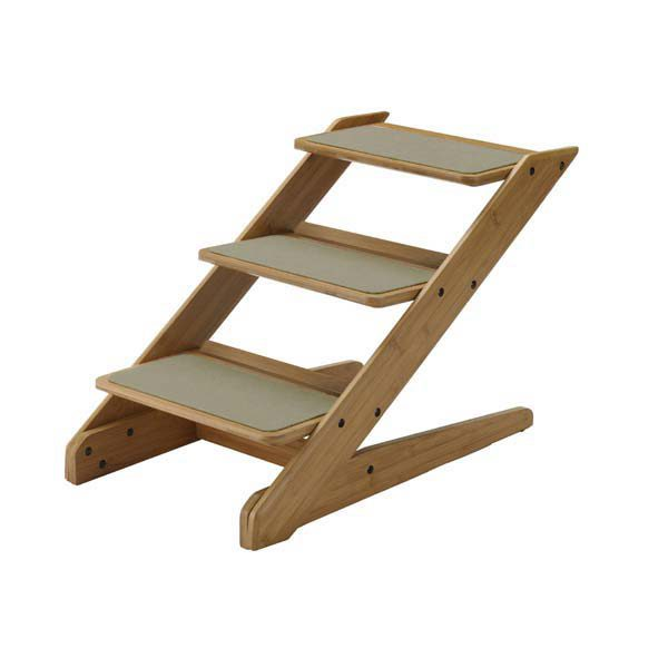 Richell Také 3-Step Pet Stool Bamboo 15