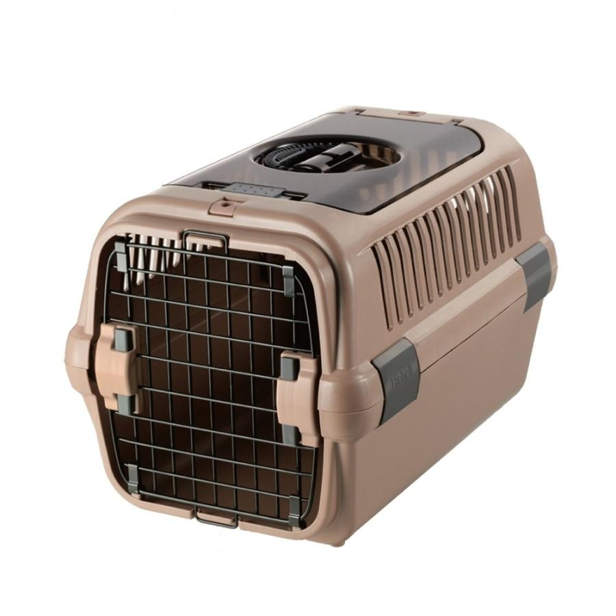 Richell Double Door Pet Carrier Medium Plastic 22.4