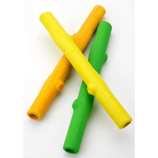 Ruff Dawg Stick Dog Toy Yellow 12
