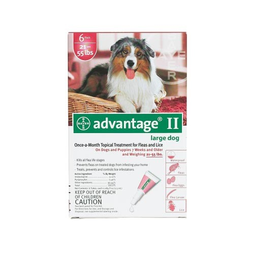 Advantage Flea Control for Dogs and Puppies 21-55 lbs 6 Month Supply