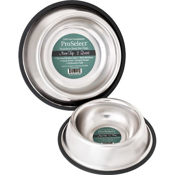 PetEdge No-Tip Non-Skid Stainless Steel Bowl 16 oz 5