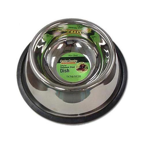 PetEdge No-Tip Non-Skid Stainless Steel Bowl 24oz. 6