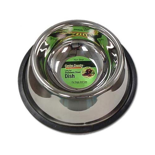 PetEdge No-Tip Non-Skid Stainless Steel Bowl 32 oz. 8